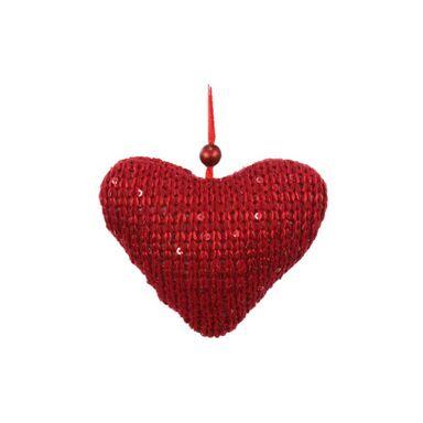 Zawieszka serce z tkaniny 7 cm 1 szt. mix