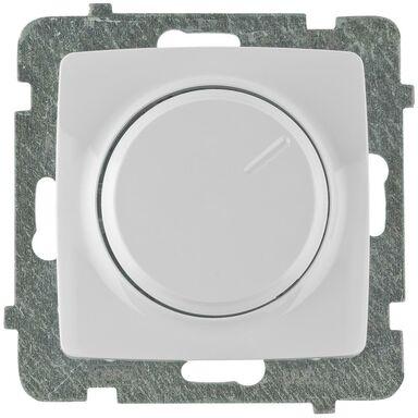 Ściemniacz przyciskowo-obrotowy KARO  Biały  OSPEL