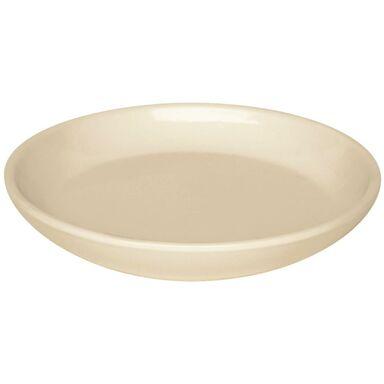 Podstawka pod doniczkę 15 cm ceramiczna kremowa PROWANSJA