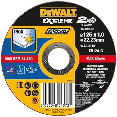 Tarcza tnąca 125 x 1 x 22.2 INOX DT43932-QZ DEWALT