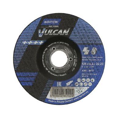 Tarcza do szlifowania T27 125 x 6.4 x 22.23 STAL NORTON VULCAN