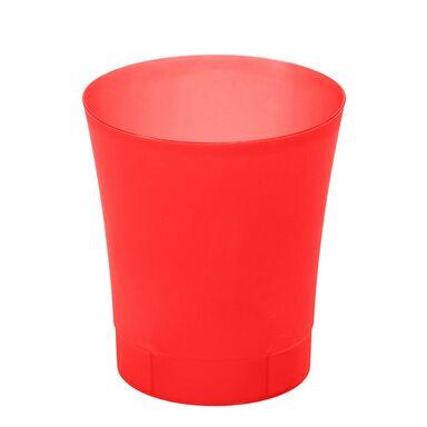 Osłonka na doniczkę 12.5 cm plastikowa czerwona ORCHIDEA