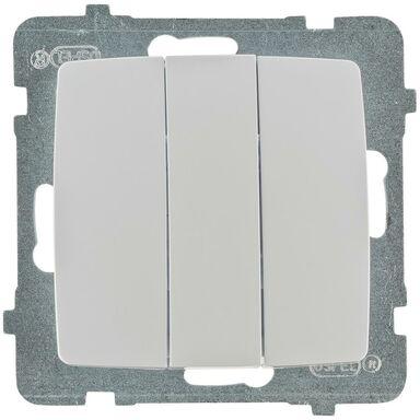 Włącznik potrójny KARO  biały  OSPEL