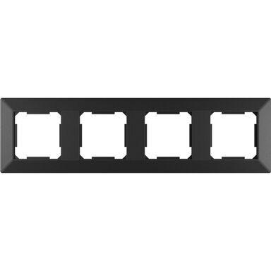 Ramka pooczwórna EDG1004B czarna LEXMAN