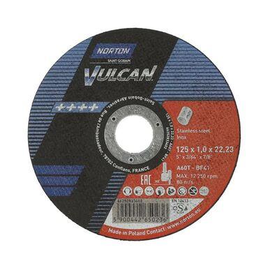 Tarcza do cięcia T41 125 x 1.0 x 22.23 INOX NORTON VULCAN