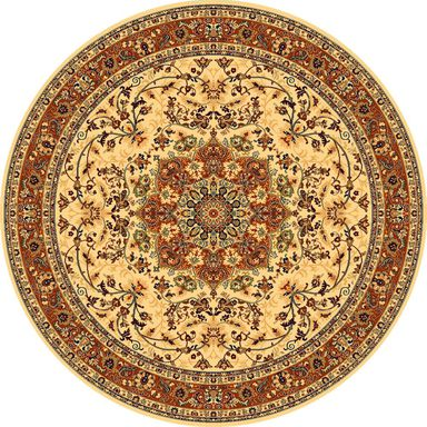 Dywan wełniany KORDOBA beżowy okrągły śr. 200 cm