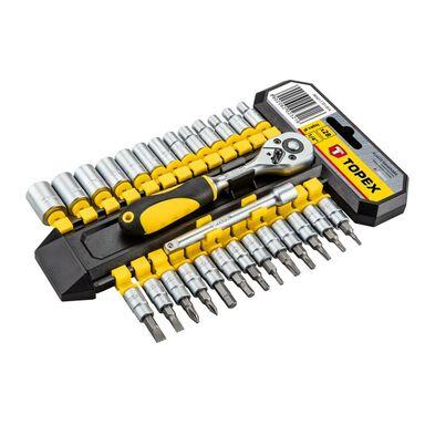 Zestaw kluczy nasadowych 38D651 TOPEX
