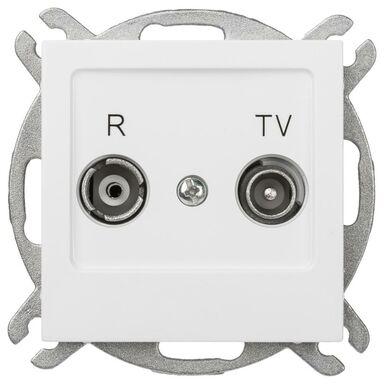 Gniazdo RTV KOŃCOWE AS  Biały  OSPEL