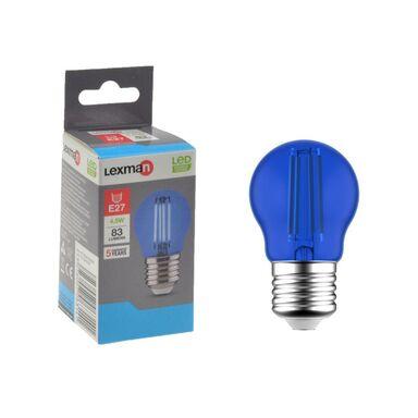 Żarówka dekoracyjna LED E27 4.5 W 83 lm Niebieska LEXMAN