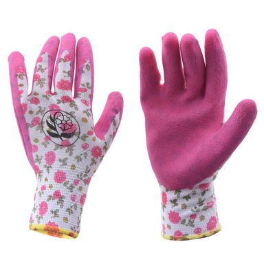 Rękawice ogrodowe r. M / 7 poliestrowe z powłoką lateksową