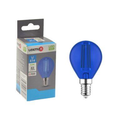 Żarówka dekoracyjna LED E14 4.5 W 83 lm Niebieska LEXMAN
