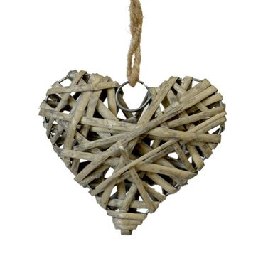 Zawieszka wiklinowe serce 10 cm 1 szt.