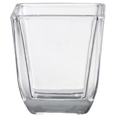 Świecznik szklany AROMATIC wys. 6.5 cm transparentny