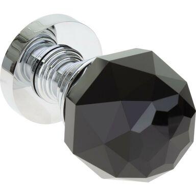 Gałka drzwiowa RUCHOMA Kryształowa Czarny chrom KUCHINOX