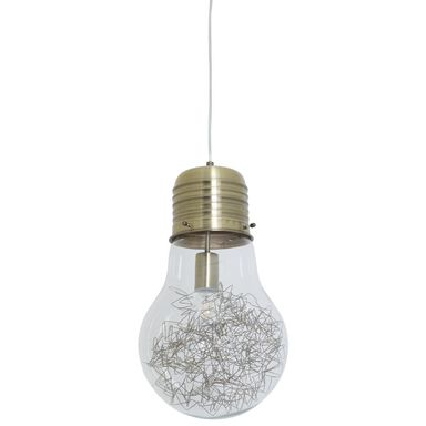 Lampa wisząca BOMBILLA mosiądz E27 INSPIRE