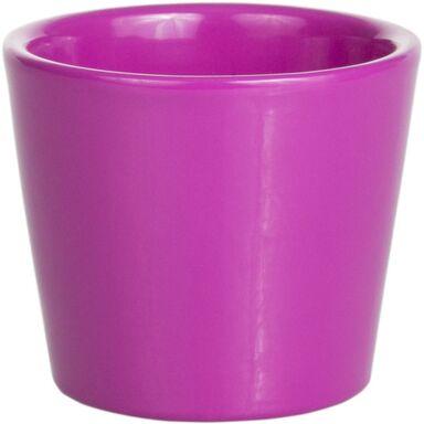 Osłonka na doniczkę 10 cm ceramiczna różowa KAKTUS