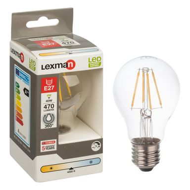 Żarówka LED E27 (230 V) 4 W 470 lm Neutralny LEXMAN