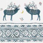 Serwetki świąteczne Ethno deers 33 x 33 cm 20 szt.