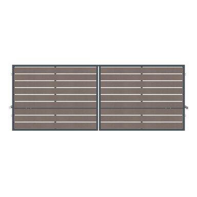 Brama dwuskrzydłowa BURSZTYN 400 x 150 cm z automatem POLARGOS