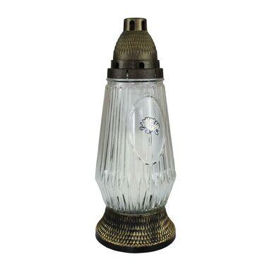 Znicz szklany z wkładem parafinowym 120 g / 36 h 1421