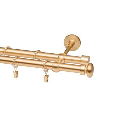 Karnisz PRADO FLAT BALL 240 cm podwójny złoty 19/16 mm