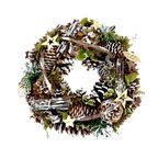 Wianek świąteczny 30 cm z szyszkami