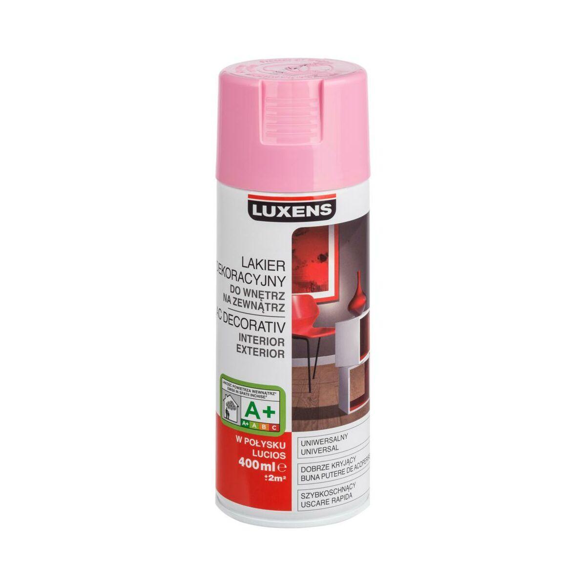 Spray Kolor 0 4 L Rozowy Polysk Luxens Spraye W Atrakcyjnej Cenie W Sklepach Leroy Merlin
