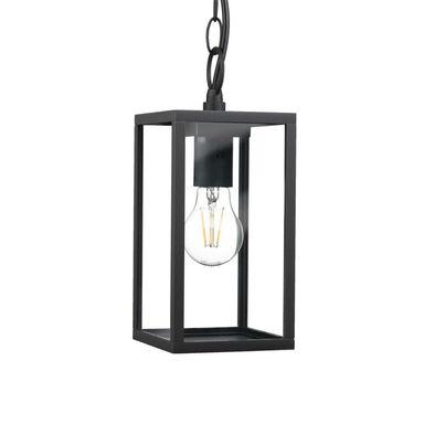Lampa ogrodowa wisząca MALMO IP44 czarna E27 POLUX