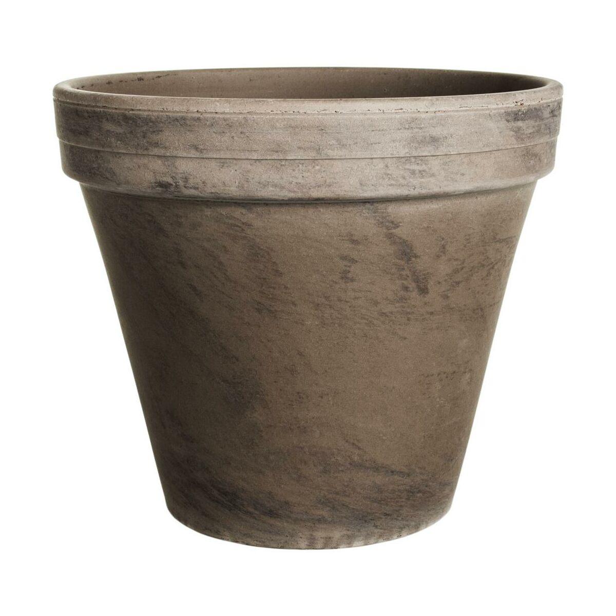 Doniczka Gliniana 26 Cm Prosta Basalt Cermax