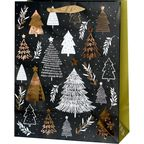 Torebka na prezenty Christmas tree 13 x 26.5 cm
