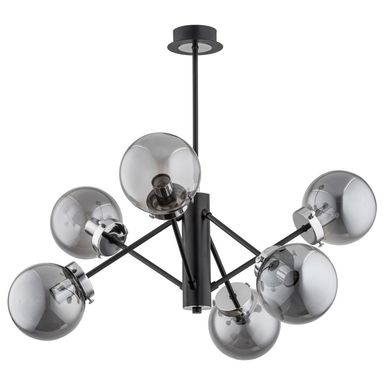 Lampa wisząca Nancy czarno-srebrna 6 x E14 Alfa