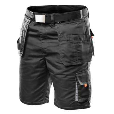 Spodnie robocze krótkie r. 56 czarne z paskiem NEO HD 81-270-XL