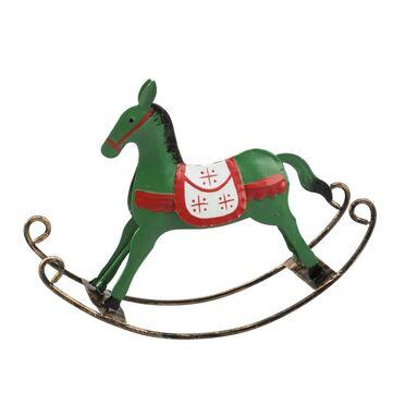 Koń na biegunach 14 x 18 cm 1 szt. zielony