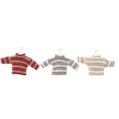 Zawieszka ciepły sweterek 8 cm 1 szt. mix