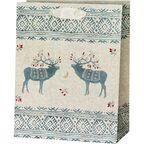 Torebka na prezenty Ethno deers 10 x 20 cm