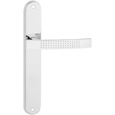 Klamka drzwiowa z długim szyldem ASTRA Chrom połysk