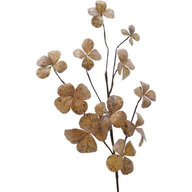 Gałązka małe listki koniczynka 70 cm 1 szt. złote