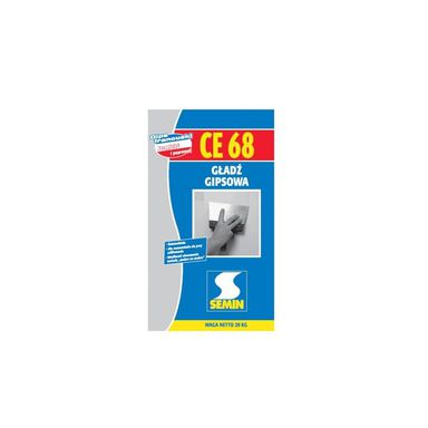 Gładź gipsowa CE 68 20 kg SEMIN