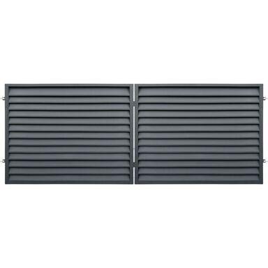 Brama dwuskrzydłowa KRETA 400 x 150 cm POLBRAM antracyt