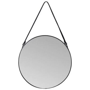 Lustro okrągłe PERITO na pasku czarne śr. 60 cm