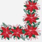 Serwetki świąteczne Lovely poinsettia 33 x 33 cm 20 szt.