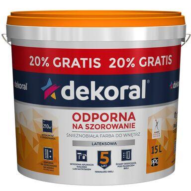 Farba wewnętrzna AKRYLIT W 12.5L+20% GRATIS Śnieżnobiały DEKORAL