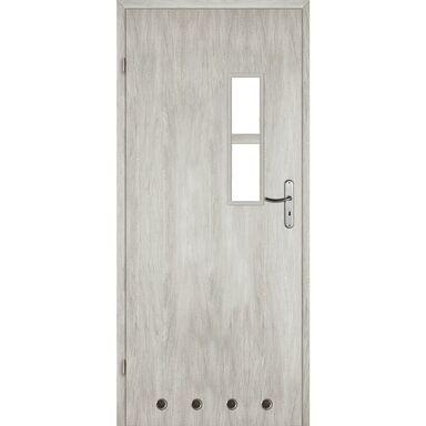 Skrzydło drzwiowe z tulejami wentylacyjnymi Monti Dąb srebrny 80 Lewe Voster