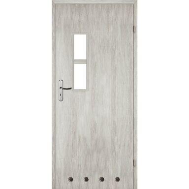 Skrzydło drzwiowe z tulejami wentylacyjnymi Monti Dąb srebrny 80 Prawe Voster
