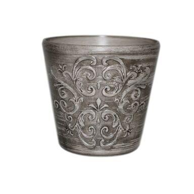 Osłonka ceramiczna 16 cm szara RETRO 2 R2239 EKO-CERAMIKA