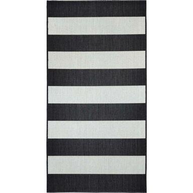 Dywan zewnętrzny w pasy Ethnic biało-czarny 120 x 170 cm