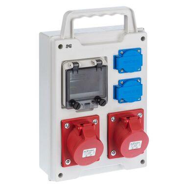 Rozdzielnica elektryczna bez wyposażenia RS 1 / 4 6211 - 00 / 2 X 2P + Z 2 X 3P + N + Z 16A ELEKTRO-PLAST
