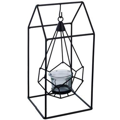 Lampion na świeczkę House wys. 18 cm czarny