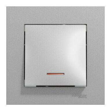 Włącznik pojedynczy schodowy podświetlany Miluz Ed aluminium SCHNEIDER ELECTRIC