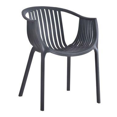 Krzesło ogrodowe SARDYNIA plastikowe antracytowe